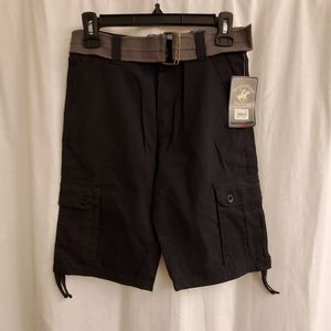 New boys cargo shorts and belt size 14